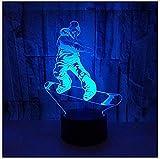 Nxcsb Nachtlicht New Scooter Sports 3D Lichter Bunte Touch-Fernbedienung Led Visual Lights Festival Geschenke 3D Nachtlicht