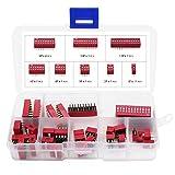 Aussel Kit de surtido de interruptor DIP de doble hilera 1 2 3 4 6 8 10 12 Posiciones 35 p...