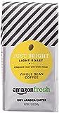 AmazonFresh Just Bright Whole Bean Coffee, Light Roast, 12 Ounce