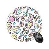 Alfombrilla de ratón con base de goma antideslizante con bordes cosidos, alfombrilla de ratón de oficina impermeable para hombres y mujeres, tamaño pequeño de 18 cm Depositphotos