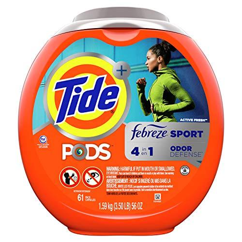Tide Pods Plus Febreze Sport Odor Defense, Laundry Detergent Pacs, 61 ct.