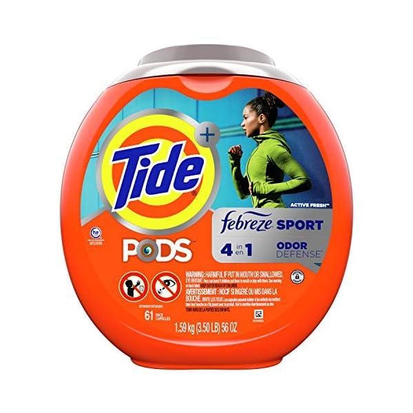 Tide PODS 4 in 1 Febreze Sport Odor Defense, Laundry Detergent Soap PODS, High Efficiency...