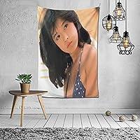 2021タペストリー 中森明菜(なかもりあきな、Nakamori Akina)ファッションの絶妙な印刷リビングルームの入り口寝室の背景壁の装飾カスタマイズされた壁掛け布 (60 * 40inch)