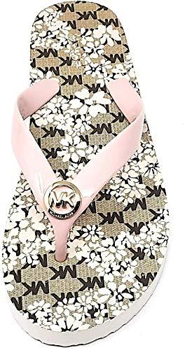 Michael Kors Womens Floral Flip Flop, Blossom (10) Pink