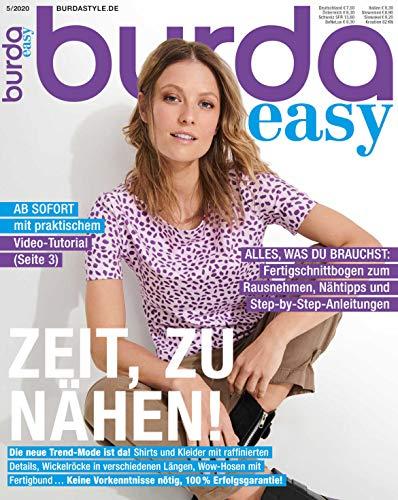 Burda easy Nähmagazin 2020#5 Ausgabe Schnittmuster für Nähanfänger