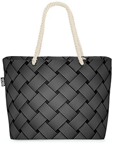 VOID Opischer Faserdruck Strandtasche Shopper 58x38x16cm 23L XXL Einkaufstasche Tasche Reisetasche Beach Bag