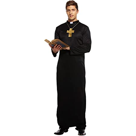 Details about  /Priest Prieser Costume Outfit Costume Fancy Dress Costume Men Church