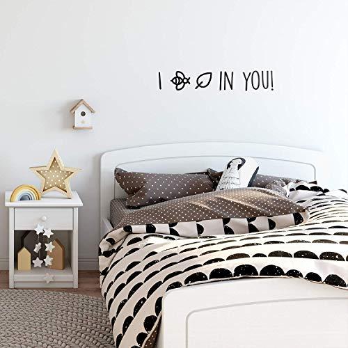 IMPRINTED DESIGNS WALL DECALS Vinilo Adhesivo Decorativo para Pared, diseño con Texto en inglés I Bee Leaf in You, 12,7 x 76,2 cm