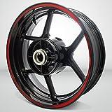 Gloss Rojo Streak Outer Rim Liner Stripe Pegatinas para Ducati Multistrada 1200