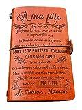 à Ma Fille Cuir Journal Cadeau Profitez de La Balade Voyage Diary Carnet de Notes de Voyage de 120...