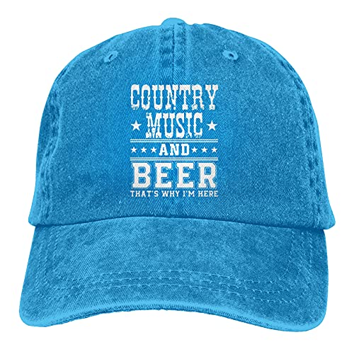 Jopath Country Music & Beer Thats Why Im Here-2 Hats,Gorra de béisbol ajustable para hombres y mujeres