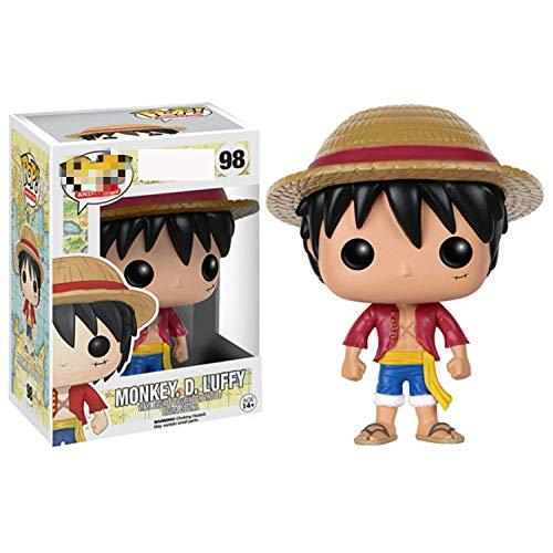 ZXZX 1Pcs Funko Pop One Piece * 10cml Luffy 98 The Child Juguete Coleccionable, Multicolor