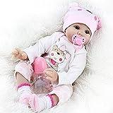 ZIYIUI Muñeca Reborn Muñecos de bebé de 22 Pulgadas Silicona Dolls Bebe Reborn Niña Realista Recién Nacido para niños Mayores de 3 años Juguete