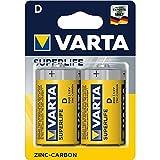Varta Longlife - Batterie mono, 1,5 V, zinco carbone, confezione da 2