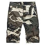 ELECTRI Pantalons pour Hommes Cargo Camouflage Impression Nouveau Short d'Outillage...