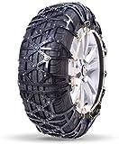 Wangcong Cadenas de Nieve Cadenas de neumáticos Cadena de tracción de neumáticos Cadenas de Ruedas universales, fácil de Montar, Antideslizante para neumáticos, tracción de Emergencia portátil,
