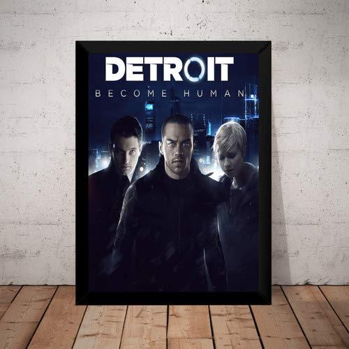 Quadro Game Detroit Become Human Arte Poster Moldurado