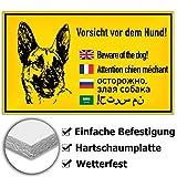 KAVARO Schild Hund Warnschild Hund Vorsicht Hund Achtung Hund