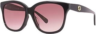 نظارة شمس غوتشي GG0800SA 002 نظارة شمسية لون أسود وأحمر مقاس 56 ملم