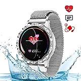 wetwgvsa Smartwatch Damen Fitness Armband Wasserdicht IP67 Fitness Tracker Aktivitätstracker