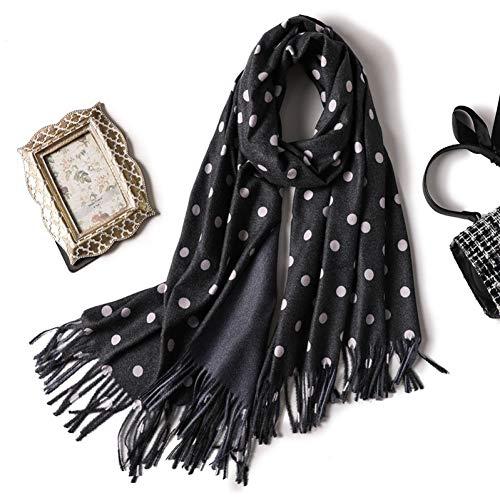 CHENGWJ sjaal voor wintersjaal met een punt A golf en een solide kleur voor vrouwen en schalen met sjaal en lange sjaal van Cashmere Dicke