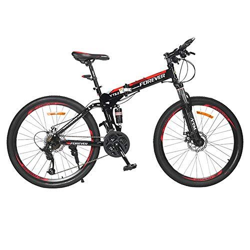 AI CHEN Klapp Mountainbike Fahrrad Einrad Doppelscheibenbremsen Geländefahrrad Männlicher Student Erwachsener 24 Geschwindigkeit 26 Zoll
