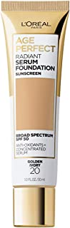 L'Oreal Paris Age Perfect Radiant Serum Foundation with SPF 50, Golden Ivory, 1 Ounce
