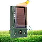Solar Alimentado Ultrasónico,Ahuyentador De Pajaros,Repelente de Gatos para Jardín, para Uso al Aire Libre, ristente al Agua, Animales, Ratones, Perroas, Gatos, Pájaros
