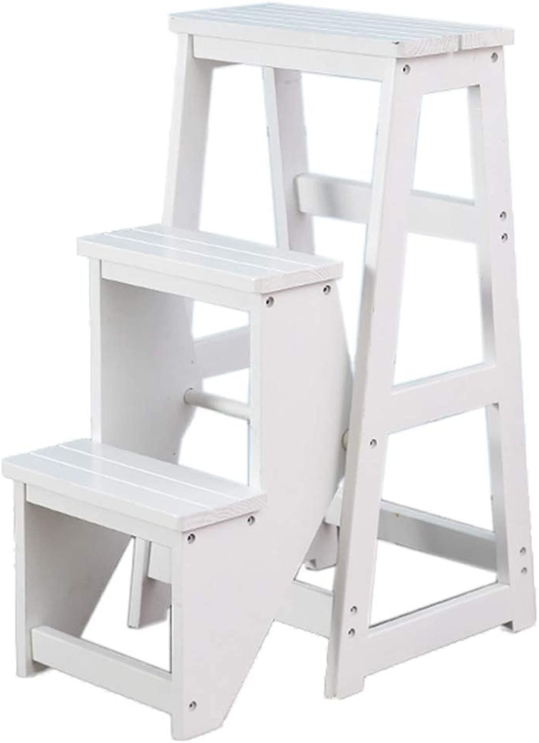 Remarkable Folding Ladder Step Stool Wooden 3 3 3 Step Climbing Dualuse Gmtry Best Dining Table And Chair Ideas Images Gmtryco