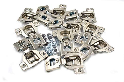 "Blum 105 Degrees Compact 38N Series 3/4"" Overlay Screw-On Cabinet Hinge -10 Pack"