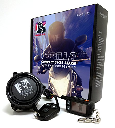 Gorilla Automotive 9100 Motorcycle Alarm with 2-Way Paging...