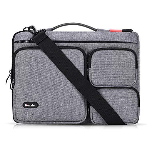 iCozzier 13-13,3 Zoll-Laptoptasche mit DREI Seitentaschen und Tragegriff/Multifunktions-Laptoptasche für 13-Zoll-Ultrabook/Notebook/MacBook - Dunkelgrau