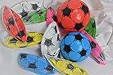 Schnooridoo 12 x Kunststoffball Fussball Ball 20 cm PVC Fußball im Netz Give Away Kindergeburtstag -