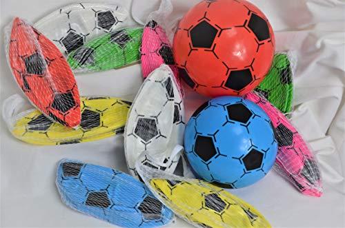 Schnooridoo 4 x Kunststoffball Fussball Ball 20 cm PVC Fußball im Netz Give Away Kindergeburtstag