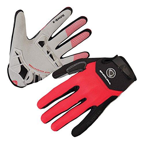 ENDURA - SingleTrack Plus Gloves, Color Rojo, Talla XXL