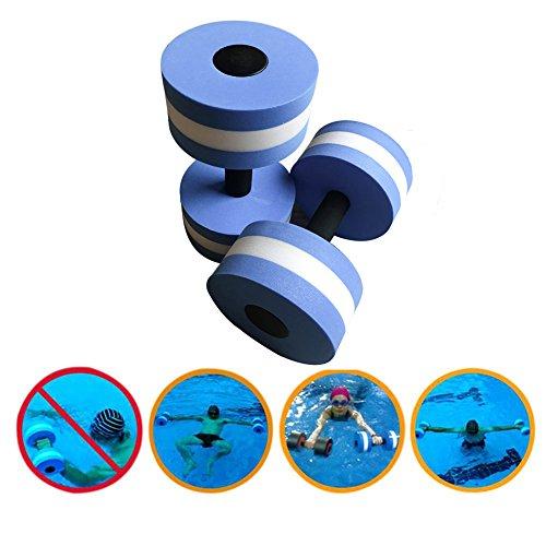 Aerobic Hantel für das Wasser, Hantel für Yoga-Übungen–EVA-Schaumstoff, Wasser, Fitness, Gerät zum Abnehmen, blau, 2pcs
