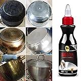 dianqin14 Eliminador de óxido de Superficie metálica Ollas de Cocina Sartenes Parte Inferior Parrilla de Barbacoa de Acero Inoxidable Limpiador rápido Sucio Negro