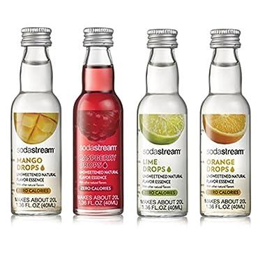 SodaStream Fruit Drops Variety Pack - Mango, Raspberry, Lime & Orange (1.36fl oz)
