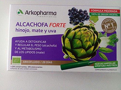 Arkopharma - Alcachofa FORTE Con Hinojo, Mate Y Uva, 20 botellas