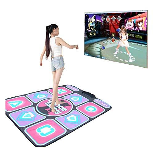 Alfombra de sala de estar para el hogar Cable USB Alfombra de baile musical Alfombrilla antideslizante para bailarines Almohadillas para el paso Cojín Juego de sensación Juego de fiesta de yoga Manta