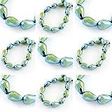 20 Tschechische Kristall Perlen Glasperlen 6mm x 4mm Tropfen Form Metallic Fire-Polished Schmuckperlen Kristallschliffperlen Glasschliffperlen Farbauswahl (Grün)