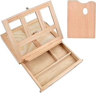 TIMESETLChevalet de boîte Outil de peinture d'artistes, Chevalet de table avec tiroir et palette idéal pour le croquis, l...