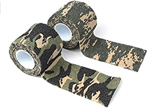 The Rugged Hunter Camo Tape Hunting Stealth Gun and Bow Camouflage Cloth Tape Flexible 14.5 Feet Per Roll - 2 Rolls