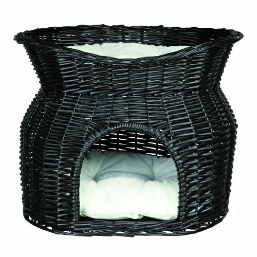 Wicker Cave with Bed on Top - 54 × 43 × 37 cm