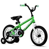 JOYSTAR 14' Pluto Kids Bike with Training Wheels for Ages 3 4 5 Year Old Boys & Girls, Green