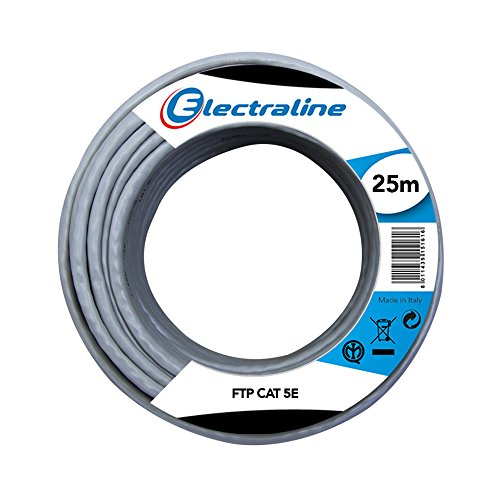 Electraline - 101842 red ethernet por cable cat5e ftp, 25 metros