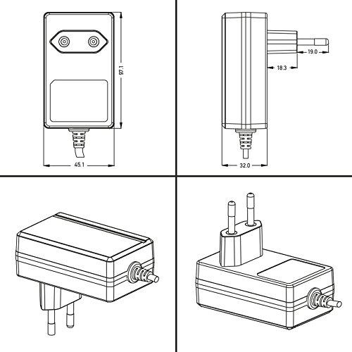 Poppstar Universal AC DC Netzteil, Steckernetzteil 12V 2A (2000mA, 3,5/1,35mm) Adapter - Stromadapter für Externe Festplatten-Gehäuse, Dockingstation UVM, 150cm
