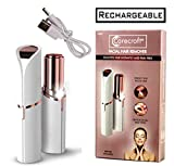 Carecroft USB Rechargeable Facial Hair Remover Trimmer Shaver Machine Tool for Women painless
