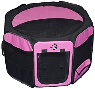 Dog Kennels & Pens - Travel Lite Soft-Sided Pet Pen - Medium/Pink