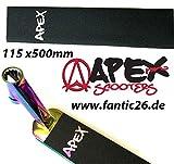 Apex Cinta de agarre para patinete de acrobacias, 115 x 500, Cut Out con logotipo láser